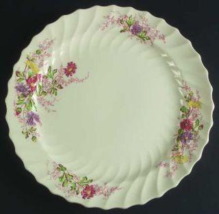 Spode Fairy Dell (Swirled) 13 Chop Plate (Round Platter), Fine China Dinnerware