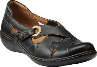 Womens Clarks Ashland India   Black Leather Casual Shoes