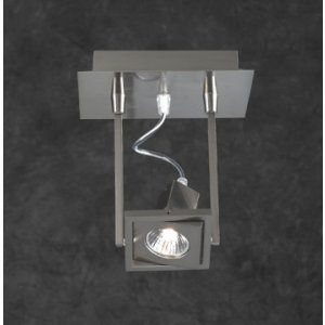 PLC Lighting PLC 1271 SN Square Wall Lighting / 1 Light Halogen 120v. 50W