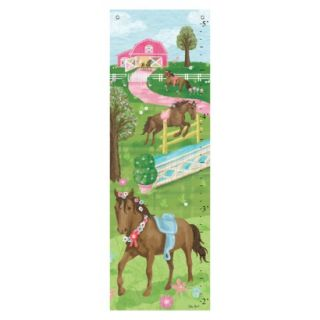 Oopsy Daisy too Pretty Horses Growth Chart   13x39