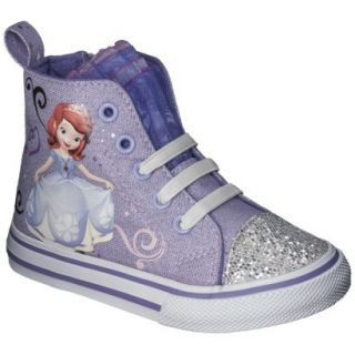 Toddler Girls Sophia The First High Top Sneaker   Purple 8