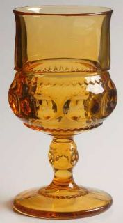 Colony Color Crown Gold (Honey) Water Goblet   Stem #77, Honey Gold