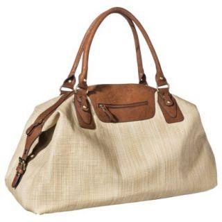 Bueno Weekender Tote Handbag   Ivory