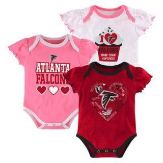 NFL Girls Onesie 3 Pack Falcons 12 M