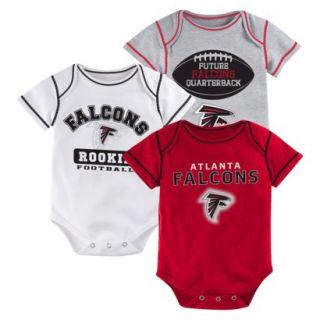 NFL Boys 3 Pack Onesie Falcons 0 3 M