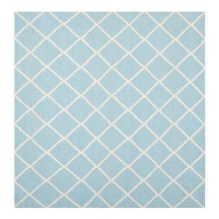 Safavieh Dhurries Light Blue/Ivory Rug DHU565B Rug Size: Square 6 x 6