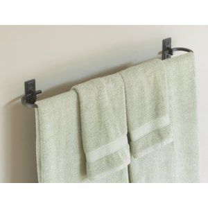 Hubbardton Forge HUB 841024 07 Metra Holder 29 Curved Towel