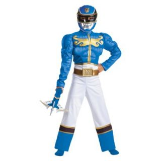 Boys Blue Power Rangers Megaforce Muscle Costume