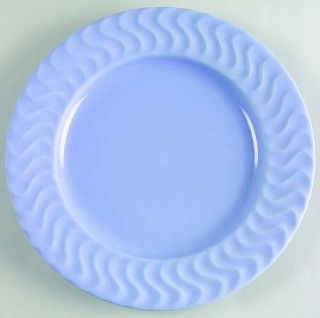 Dansk Tsunami Blue Salad Plate, Fine China Dinnerware   All Blue, Embossed Wavy