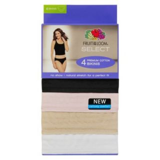 Fruit of the Loom SELECT Cotton Textures Bikini 4 Pack   Assorted Colors 9