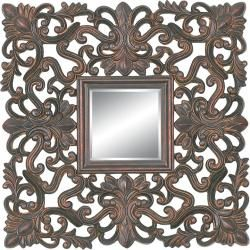 Rectangular Framed Dark Gold Wall Mirror