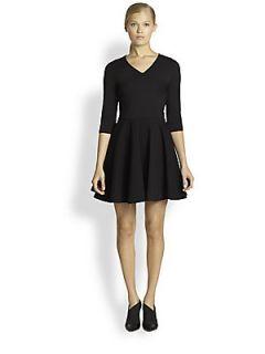 Diane von Furstenberg Jeannie Fit & Flare Jersey Dress   Black