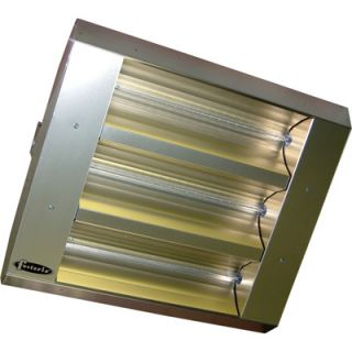 TPI Indoor/Outdoor Quartz Infrared Heater   16,382 BTU, 208 Volts, Stainless