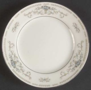 Fine China of Japan Diane Bread & Butter Plate, Fine China Dinnerware   Blue Flo