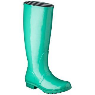 Womens Classic Knee High Rain Boot   Cicley Leaf Green 8
