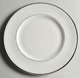 Royal Jackson Exquisite Salad Plate, Fine China Dinnerware   Platinum & White