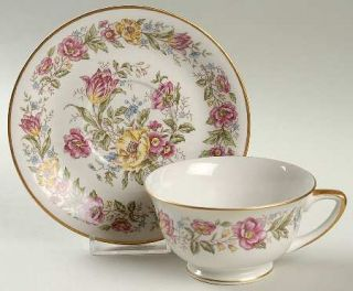 Royal Jackson Lady Mayfair Footed Cup & Saucer Set, Fine China Dinnerware   Yell