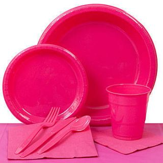Hot Pink Plastic Party Pack