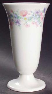 Wedgwood Angela Vase, Fine China Dinnerware   Pastel Flowers, Smooth, Coupe