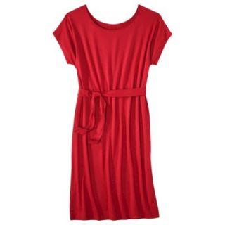 Merona Womens Knit Belted Dress   Wowzer Red   L