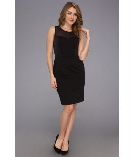 Vince Camuto Body Con Dress w/ Sweetheart Top Sequin Details Womens Dress (Black)