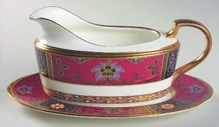 Noritake Silk Winds Gravy Boat & Underplate (Relish/Butter), Fine China Dinnerwa