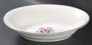 Royal Jackson Normandy Rose 10 Oval Vegetable Bowl, Fine China Dinnerware   Par
