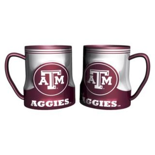 Boelter Brands NCAA 2 Pack Texas A & M Aggies Game Time Coffee Mug   Red/ White