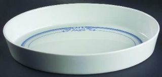 Bernardaud Cafe Paris Blue Oval Sole Dish, Fine China Dinnerware   Residence,Blu