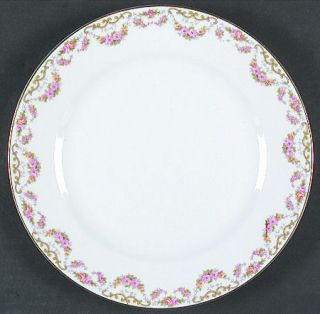 Noritake Bridal Wreath Dinner Plate, Fine China Dinnerware   Pink&Yellow Flower