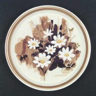 Mikasa Daisy Mae Dinner Plate, Fine China Dinnerware   Stone Manor, Brown  Band,