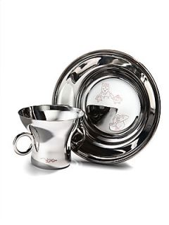 Georg Jensen Twist Family Two Piece Cup & Plate Set   No Color