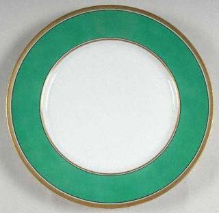 Richard Ginori Contessa Green Dinner Plate, Fine China Dinnerware   Green Rim, G