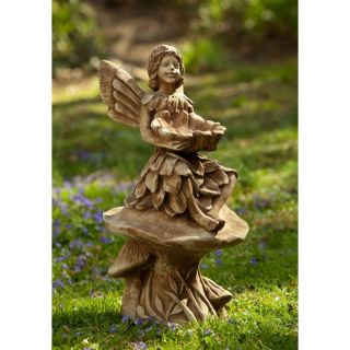 Campania International Merriweather Fairy Cast Stone Garden Statue   S 366 AL