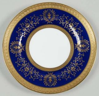 Coalport Lady Anne Cobalt Blue Bread & Butter Plate, Fine China Dinnerware   Gol