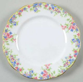 Crown China (England) Maytime Bread & Butter Plate, Fine China Dinnerware   Pink