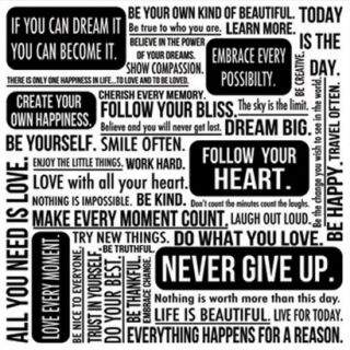 Quote Mix White Wall Art