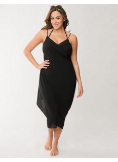 f1f734a59e ... Lane Bryant Plus Size Georgette pareo swim cover up Womens Size 14 ...