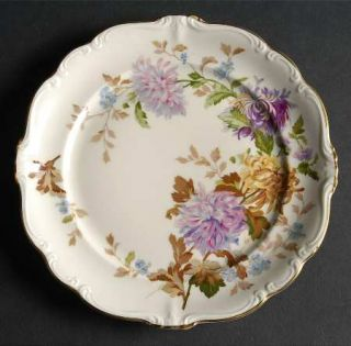 Rosenthal   Continental Daphne (Pompadour) Salad Plate, Fine China Dinnerware