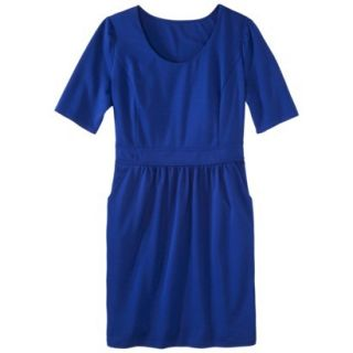 Mossimo Womens Plus Size Elbow Sleeve Ponte Dress   Blue 4