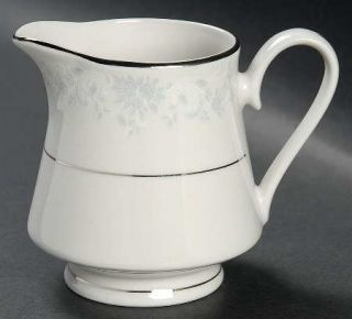 Lynns China Annie Creamer, Fine China Dinnerware   Empress, Gray&White Design O