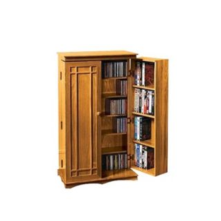 Media Storage Cabinet: Media Storage Cabinet   Honey Medium Brown (Oak)