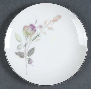 Style House Lori Bread & Butter Plate, Fine China Dinnerware   Pink/Green Roses,