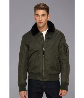 Authentic Apparel U.S. Army Airborne Flight Bomber Mens Jacket (Brown)