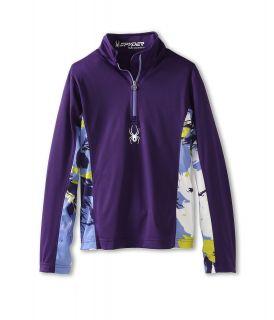 Spyder Kids Girls Bloom Dry W.E.B. T Neck F13 Girls Long Sleeve Pullover (Purple)