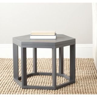 ... Safavieh Heidi Charcoal Grey End Table (Charcoal GreyMaterials Bayur  Wood And PlywoodDimensions 16.1 Inches High ...