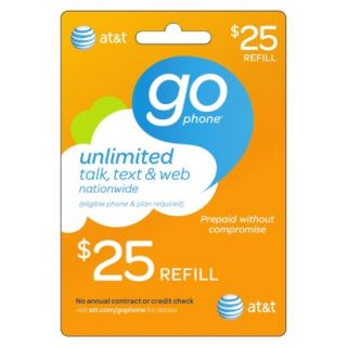 AT&T Mobility $25 Prepaid Gophone Card