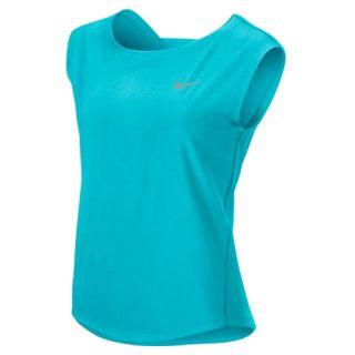 Nike Women`s Dri Fit Woven Tennis Tank Blue Xsmall Blue