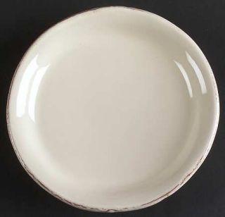 Vietri (Italy) Crema Canape Plate, Fine China Dinnerware   Cream Body, Bubbled G