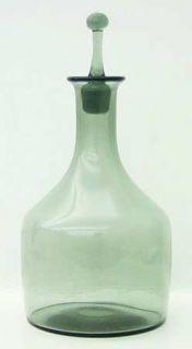 Orrefors Rhapsody Smoke Decanter   Stem #1850/8, Plain Bowl, All Smoke